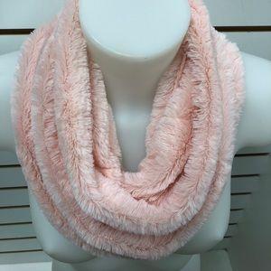 Light Pink Faux Fur neck scarf snood